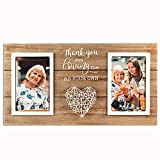 VILIGHT Bonus Mom Gift - Mothers Day Gifts for Mother In Law - Wedding Present for Stepmoms and Stepdads - Thank You for Loving Me As Your Own Picture Frame - Holds 2 4x6 Inches Photos