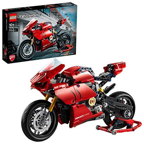 LEGO42107TechnicDucatiPanigaleV4RMotocicletaModelodeExposiciónColeccionableMotoSuperbike, SetdeConstrucción
