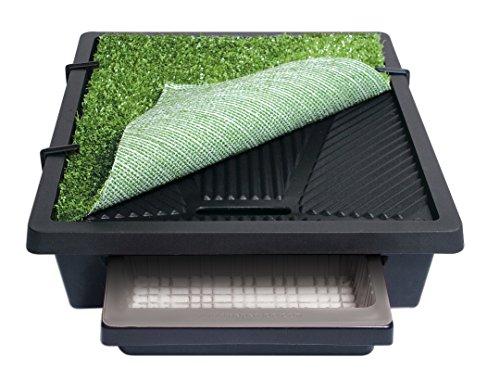 PetSafe Pet Loo mobile Haustiertoilette mit Kunstrasen M, 2 Liter Auffangbecken, 53 x 45cm, für kleine Hunde und Katzen