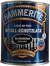 AKZO NOBEL (DIY Hammerite 5087594 metaalbeschermende lak Hammerite metalen beschermende lak glanzend 2,500 L, zwart, 2,5 l...