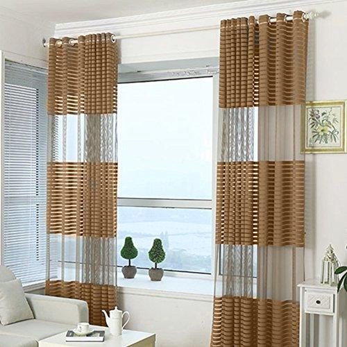 Fastar Cortinas Salon Modernas - Todo-fósforo Cortinas Transpirables rayadas para el Dormitorio, Sala de Estar, balcón 100 * 270 cm