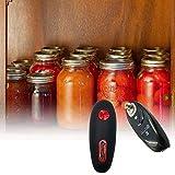 Biggystar Apriscatole Elettrico Apriscatole One Touch Bordo Liscio Adatto Agli Alimenti A Batteria E Mini Apriscatole A Mano Libera Per Chef Senior E Fiamly Cook rossonero favorable