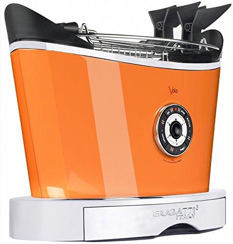 Casa Bugatti Toster 13-VOLOCO, Edelstahl, orange