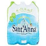 Sant'Anna - Blister d'Acqua Minerale Naturale - Confezione da 6 Bottiglie di Plastica Ciascuna da 1.5 Litri