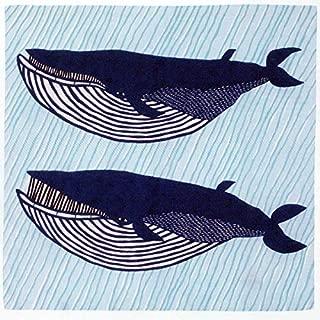 むす美 風呂敷 撥水加工 アクアドロップ 100cm (ナガスクジラ ブルー)