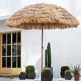 Sombrilla Exterior Sombrilla Jardín De 1.6m Sombrilla De Paja Protección UV Sombrilla Playa, para Terraza Balcón Color Natural Sin La Base