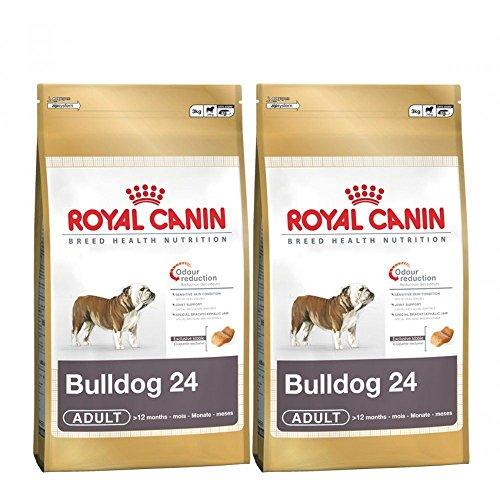 2x 12kg Royal Canin Bulldog 24Stück für Erwachsene Hunde Lebensmittel