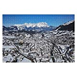 Wooden Puzzles Aerial View of Kitzbuhel ski Resort Tyrol Austria Jigsaw 1000 Pieces of Kids,Adults,Youths,Family Game Artwork,Livingroom Bedroom Adorn,Birthday Gifts,Art Styles