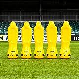 FORZA Pro Muñecos Hinchables para Entrenamientos de Fútbol – Barreras Defensas para Tiros Libres (Bolsa Opcional) (Pack de 5, Bolsa Standard)
