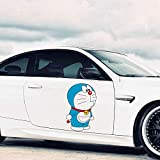 Bumper sticker 16.9' For Doraemon Cartoon Car Stickers Motorcycle Fine Decal Personality Decals Occlusion Scratch Decor (A)