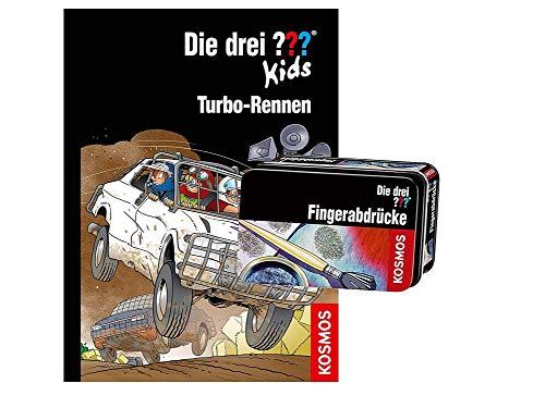 Die DREI ??? Kids: Turbo-Rennen (Band 81) + Forscherkästchen , für kleine Detektive