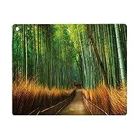 iPad 8 ケース 2020 iPad 10.2 ケース 第7世代 2019 モダンな竹のアジアの熱帯雨林自然の小道鮮やかな色のプリント風景画像、グリーンブラウン 軽量 傷防止 オートスリープ ウェイク スマートケース iPad 10.2インチ ハードカバー
