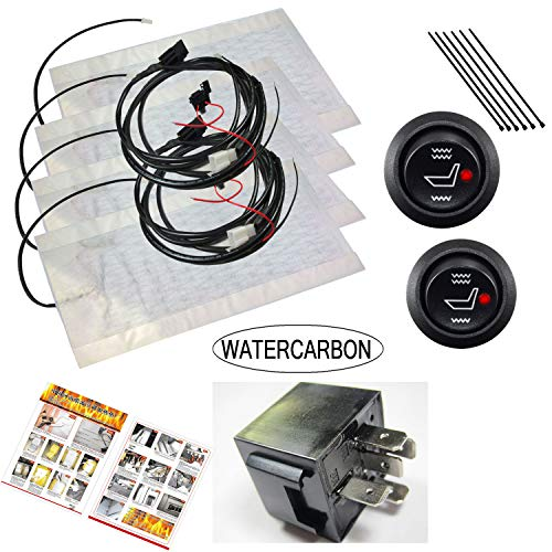 WATERCARBON 0002 New Winter Universal Automobile Built-in seat Heater kit 2 seat