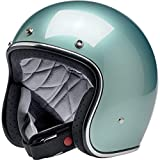 Biltwell - Casco Jet abierto Bonanza Metallic Sea Foam aprobado por DOT Helmet Biker Look Universal X Genere Custom Vintage Retro años 70 off-Road Street Talla 2XL