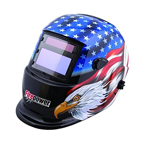 Firepower 1441-0087 Auto-Darkening Welding Helmet with Stars and Stripes Design