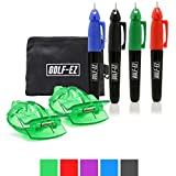 Golf-EZ Golf Ball Line Drawing Alignment Tool Kit with Carry Case (Green)