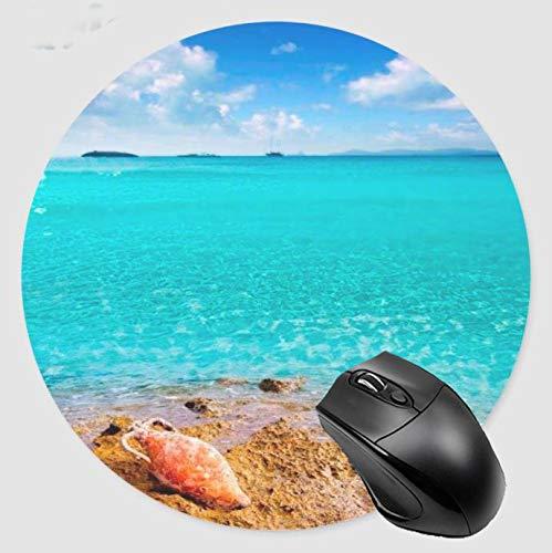 Alfombrilla de ratón para juegos Sea Shells de escritorio y portátil 1 paquete de alfombrilla de ratón redonda
