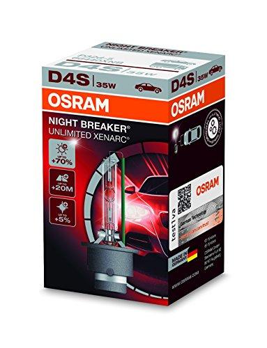Osram XENARC NIGHT BREAKER UNLIMITED D4S HID Xenon-Brenner, Entladungslampe, 66440XNB, Faltschachtel (1 Stück)