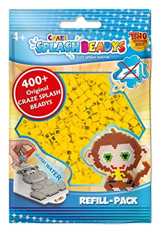 CRAZE 11484?Splash Beadys Refill Pack of Approx 400?Beads, Yellow