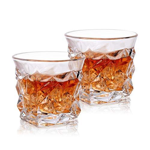 PrimeWorld Glass Whiskey Scotch Glass - 2 Pieces, Clear, 300 ml