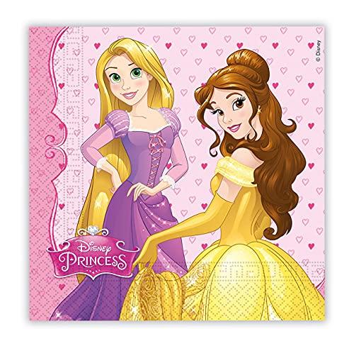 Folat B.V. Disney 46930princesa fiestas (servilletas papel dos capas, Modelos/colores Surtidos, 1 Unidad