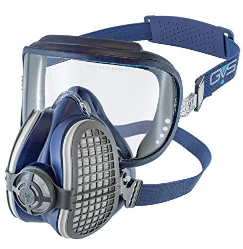 GVS Filter Technology SPR405 Semimáscara Elipse Integra con visor + filtros P3 incluidos para protección contra partículas y olores molestos - Talla M/L
