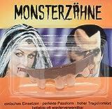 CREOFANT Dientes de monstruo para Halloween, dientes falsos, juguete, disfraz de Halloween (bruja)