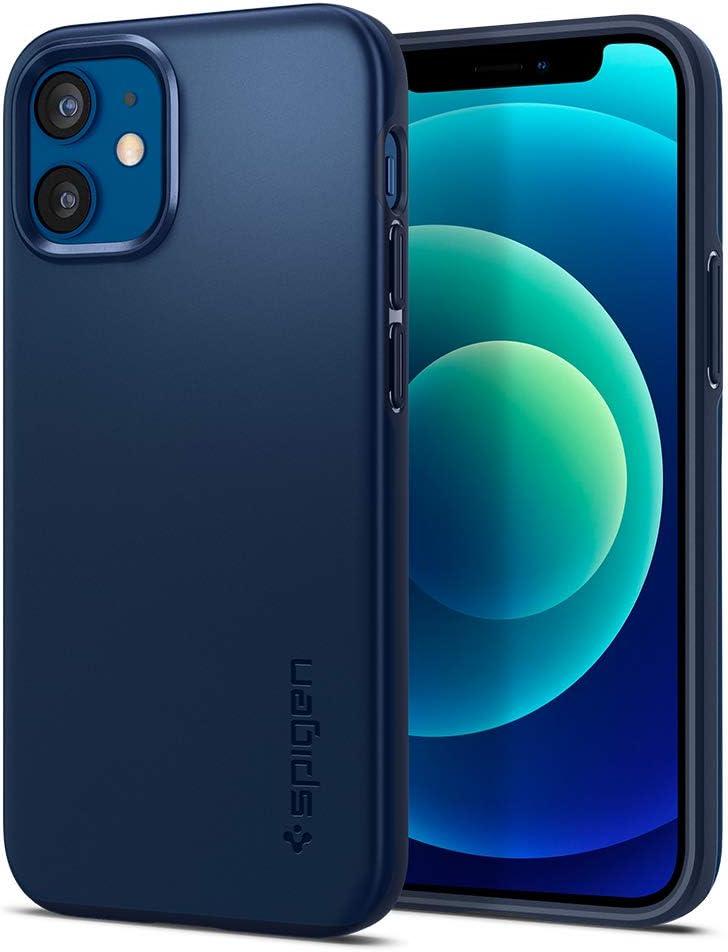 Spigen Thin Fit Designed for iPhone 12 Mini Case (2020) - Navy Blue