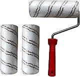 Hochwertige Polyamidrolle Rolle 24cm für 2K-Epoxidharz Bodenbeschichtung Hochwertige Polyamidrolle Walze für 2K-Epoxidharz Grundierung Versiegelung Hochwertige Polyamidrolle Rolle für 2K-Polyurethan Top Coats, Flüssigmembranabdichtungen
