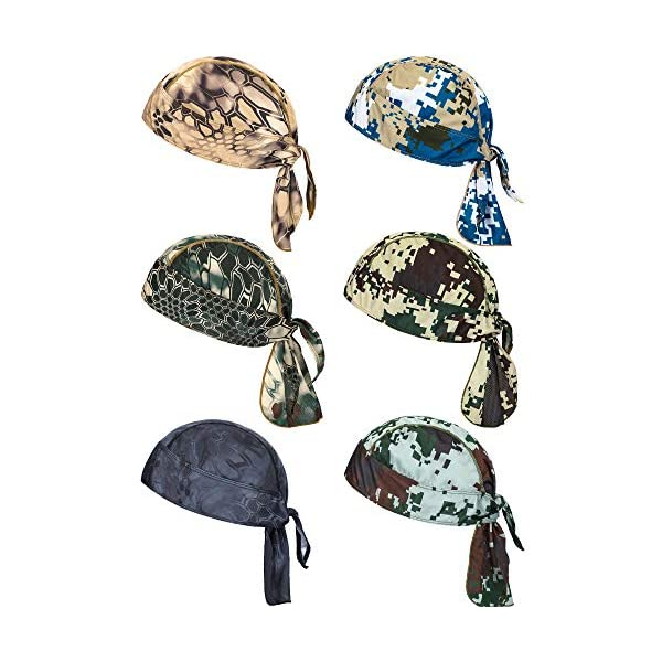 6 Pieces Sweat Wicking Beanie Cap Helmet Liner Skull Cap Breathable Cycling Head Wrap for Women Men Outdoor Activities