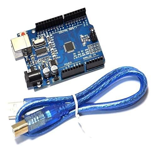GearGeeKLab Kit UNO R3 - Placa ATmega328P con Cable USB para Arduino - Compatible con IDE Arduino UNO R3