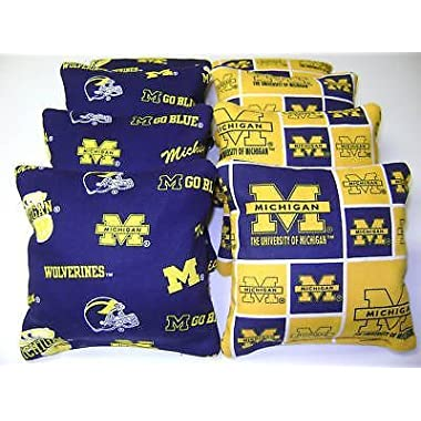 8 Cornhole Bean Bag Corn Hole Michigan Wolverines Bp