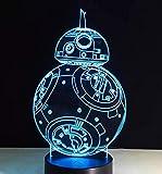 Lámpara de mesa 3D de personaje de película creativa LED acrílico multicolor USB luz nocturna decoración regalo