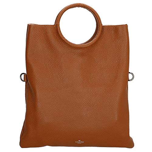 Charm London Leren Shopper met Etui Elisa Cognac