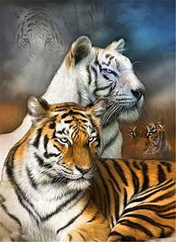 Lesign Diy Diamond Painting Animals Tigres 5d Cubo Taladro Diamante Mosaico Cross Stitch Kit Diamond Paint Full Dill Bordado 40x60cm NoFramed