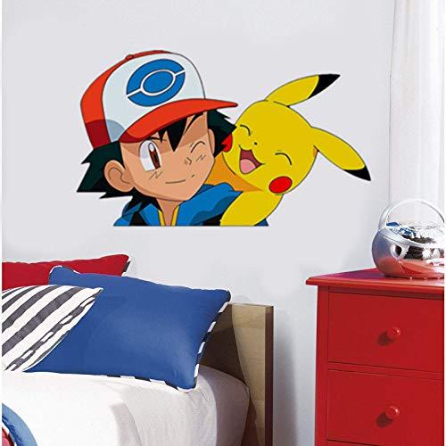 Edvoynlm Stickers muraux Pokémon pour chambre d'enfant - 30...