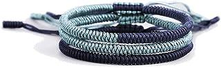 Rimobul Handmade Tibetan Buddhist Lucky Rope Bracelet - 3 Pack Blessing