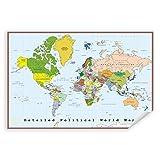 Postereck - 0556 - Detaillierte politische Weltkarte,