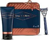 King C. Gillette Kit de Rasage Homme Complet Coffret Cadeau avec Rasoir Pour Le Cou +...