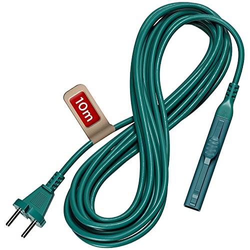 Cable eléctrico de 10 m, cable de alimentación de repuesto para Vorwerk Kobold VK 150, VK 140 y VK 141, cable para aspiradora de mano