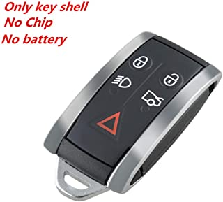 WFMJ for Jaguar X S-Type XF XK XKR KR55WK49244 Keyless Entry 5 Buttons Remote Key Case Shell Fob