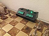 ZMF-II Chess Clock - Black with Green LED by The Chess Store