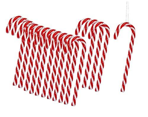 Mentohe Bastón De Caramelo para Colgar Rojo Blanco 15cm Decoración del árbol Colgante De Navidad Casa De Campo (150 Piezas)