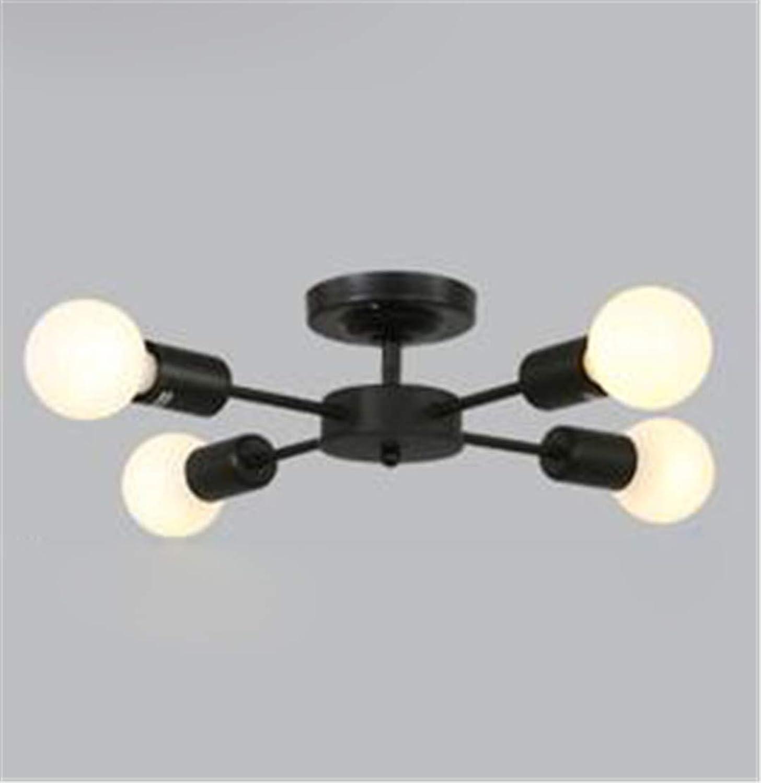 Persnlichkeit Schlafzimmer Lampe Kreative Deckenleuchte Studie Einfache Nordic Beleuchtung Schmiedeeisen Lampe Für Esszimmer Wohnzimmer C 4L schwarz