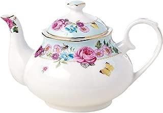 Jusalpha Royal Floral Fine Bone China Rose Vintage Teapot (G)