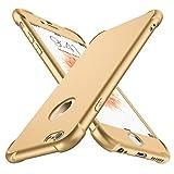 ORETECH Funda iPhone 6/6s, con [2 x Protector de Pantalla de Vidrio Templado 360 Carcasa iPhone 6/6s Case Cover Silicona Ligera Delgado PC + TPU Bumper Rubber Caso para iPhone 6 / 6s 4.7'' - Oro