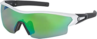 Leap Interchangeable Lens Sunglasses - 238999 (White Glossy/Black/Green Chrome Amplifier + Clear)