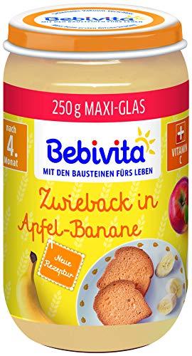 Bebivita Frucht & Getreide Zwieback in Apfel-Banane, 250 g