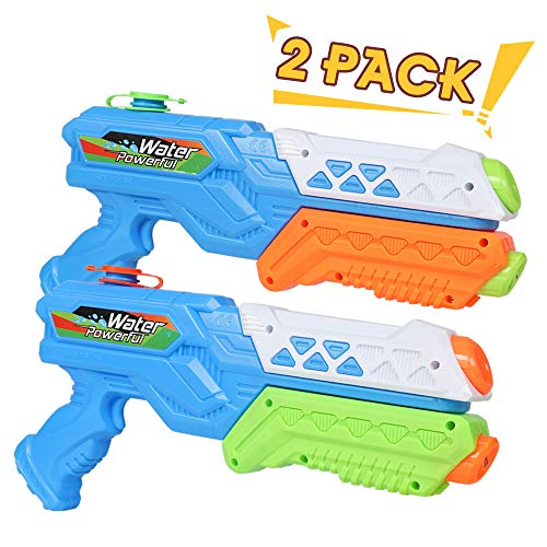 Lucky Doug Water Gun for Kids Adults, 2PCS Super Squirt Gun Water Blaster Summer Toy for Swimming...