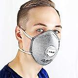 S&R 10 pz Mascherina Respiratore antipolvere FFP2 - Set 10 Mascherine. Contro ODORI, Polveri, Particelle solide e liquide, Fumo, Inquinamento. Monouso